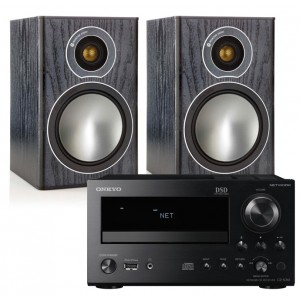 Onkyo CR-N765 w/ Monitor Audio Bronze 1 Speakers (RCD-M40)