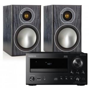 Onkyo CR-N765 w/ Monitor Audio Bronze 1 Speakers