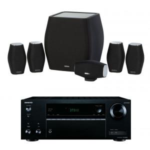 Onkyo TX-NR474 AV Receiver w/ Monitor Audio MASS Speaker Package 5.1