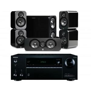 Onkyo TX-NR555 AV Receiver w/ Q Acoustics 3000 Speaker Package 5.1