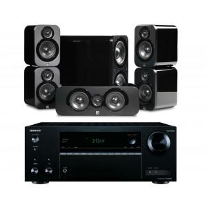 Onkyo TX-NR575E AV Receiver w/ Q Acoustics 3000 Speaker Package 5.1