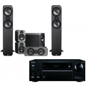 Onkyo TX-NR555 AV Receiver w/ Q Acoustics 3050 Speaker Package 5.1