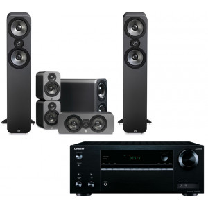 Onkyo TX-NR474 AV Receiver w/ Q Acoustics 3050 Speaker Package 5.1