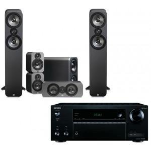 Onkyo TX-NR474 AV Receiver w/ Q Acoustics 3050 Speaker Package 5.1