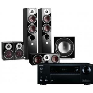 Onkyo TX-NR474 AV Receiver w/ Dali Zensor 5 Speaker Package 5.1