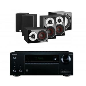 Onkyo TX-NR474 AV Receiver w/ Dali Zensor Pico Speaker Package 5.1