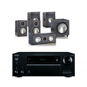Onkyo TX-NR656 AV Receiver  w/ Monitor Audio Bronze 1 Speaker Package 5.1