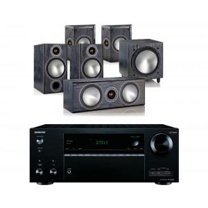 Onkyo TX-NR656 AV Receiver w/ Monitor Audio Bronze 2 Speaker Package 5.1
