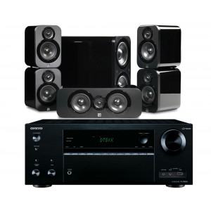Onkyo TX-NR656 AV Receiver w/ Q Acoustics 3000 Speaker Package 5.1
