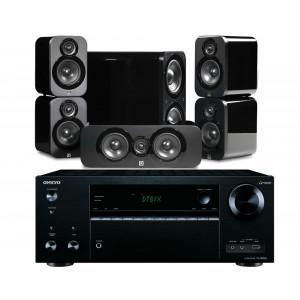 Onkyo TX-NR676E AV Receiver w/ Q Acoustics 3000 Speaker Package 5.1