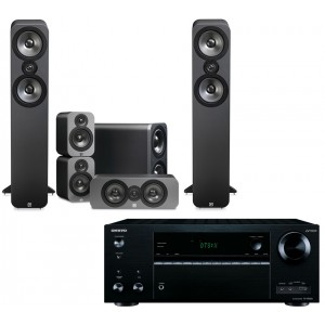 Onkyo TX-NR656 AV Receiver w/ Q Acoustics 3050 Speaker Package 5.1