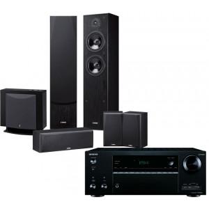 Onkyo TX-NR676E AV Receiver w/ Yamaha NS-F51 Speaker Package 5.1