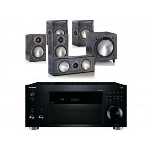 Onkyo TX-RZ810 w/ Monitor Audio Bronze 1 (5.1)