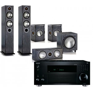 Onkyo TX-RZ810 w/ Monitor Audio Bronze 5 (5.1)