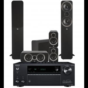 Onkyo TX-NR686 AV Receiver w/ Q Acoustics 3050i Speaker Package 5.1