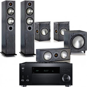 Onkyo TX-RZ3100 w/ Monitor Audio Bronze 5 Speaker Package (5.1)
