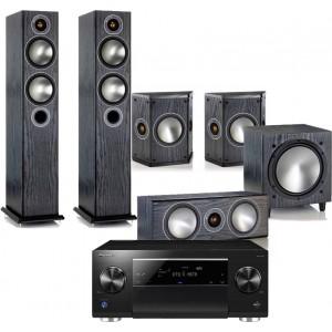 Pioneer SC-LX701 AV Receiver w/ Monitor Audio Bronze 5 Speaker Package 5.1