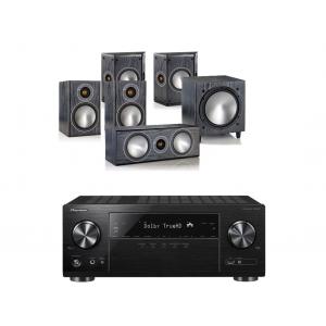 Pioneer VSX-1131 AV Receiver w/ Monitor Audio Bronze 1 Speaker Package 5.1