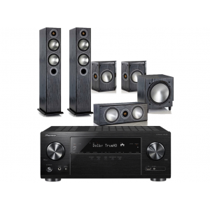 Pioneer VSX-1131 AV Receiver w/ Monitor Audio Bronze 5 Speaker Package 5.1