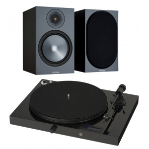 Pro-Ject Juke box E w/ Monitor Audio Bronze 100 Speakers