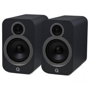 Q Acoustics 3030i Bookshelf Stereo Speakers Graphite Grey
