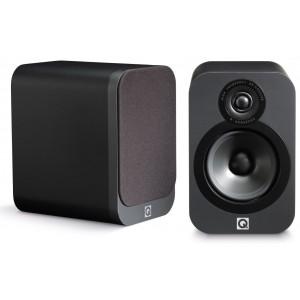 Q Acoustics 3020 Speakers (Open Box, Graphite)