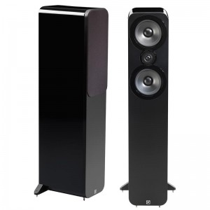Q Acoustics 3050 Floorstanding Stereo Speakers Pair - Black Lacquer