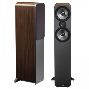 Q Acoustics 3050 Floorstanding Stereo Speakers Pair - American Walnut