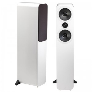 Q Acoustics 3050 Floorstanding Stereo Speakers Pair - White Lacquer