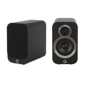 Q Acoustics 3020i Bookshelf Speakers Carbon Black