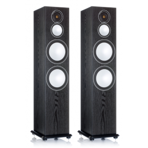 Monitor Audio Silver 10 Floorstanding Speakers Black Oak
