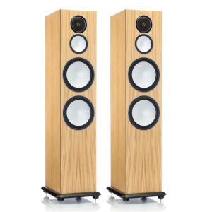 Monitor Audio Silver 10 Floorstanding Speakers Natural Oak