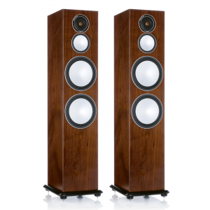 Monitor Audio Silver 10 Floorstanding Speakers Walnut