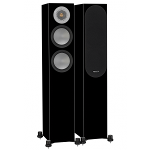 Monitor Audio Silver 200 Floorstanding Speakers Black Gloss