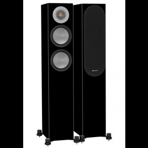 Monitor Audio Silver 200 Floorstanding Speakers Black Gloss