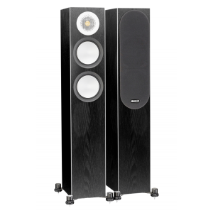 Monitor Audio Silver 200 Floorstanding Speakers Black Oak