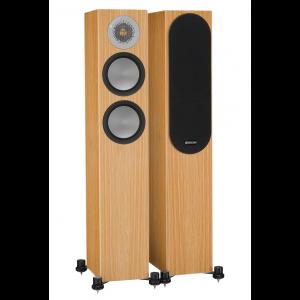 Monitor Audio Silver 200 Floorstanding Speakers Natural Oak