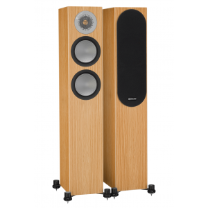 Monitor Audio Silver 200 Speakers (Open Box, Natural Oak)