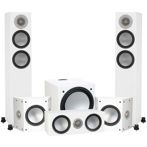 Monitor Audio Silver 200 AV12 5.1 Speaker Package Satin White