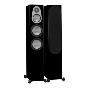 Monitor Audio Silver 300 Floorstanding Speakers Black Gloss