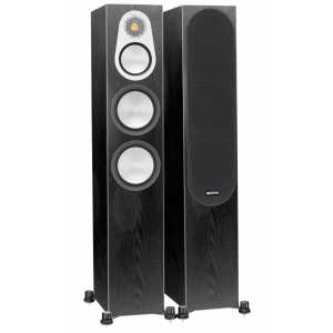 Monitor Audio Silver 300 Floorstanding Speakers Black Oak