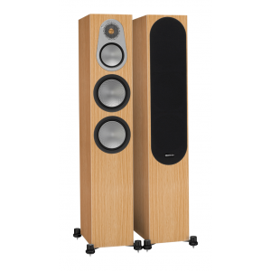 Monitor Audio Silver 300 Floorstanding Speakers Natural Oak