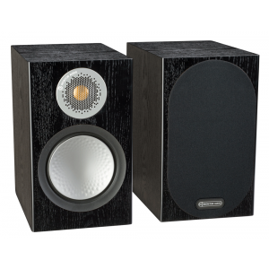 Monitor Audio Silver 100 Bookshelf Speakers Black Oak