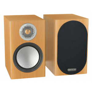 Monitor Audio Silver 50 Bookshelf Speakers Natural Oak