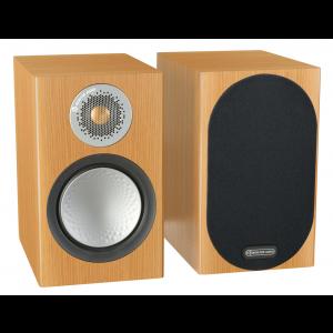 Monitor Audio Silver 100 Speakers (Open Box, Natural Oak)