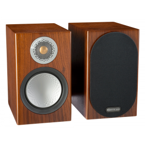 Monitor Audio Silver 100 Bookshelf Speakers Walnut