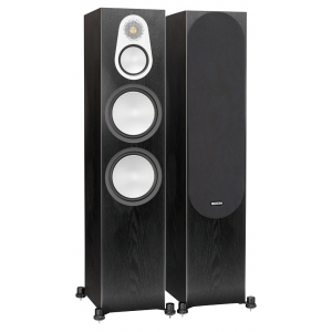 Monitor Audio Silver 500 Floorstanding Speakers Black Oak