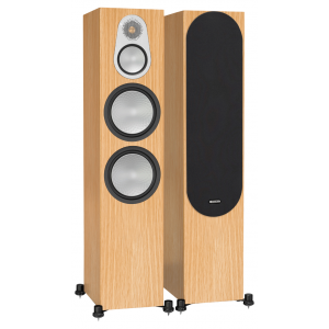 Monitor Audio Silver 500 Floorstanding Speakers Natural Oak