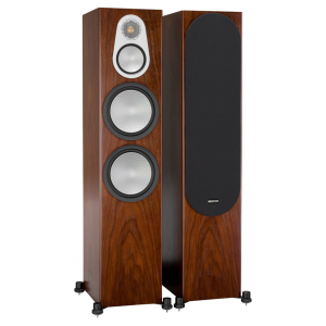 Monitor Audio Silver 500 Floorstanding Speakers Walnut
