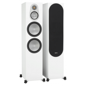 Monitor Audio Silver 500 Floorstanding Speakers Satin White